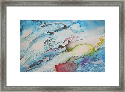 Pleasure And Pain Framed Print by Carrie Maurer