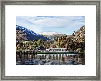 Pleasure Cruiser On Ullswater Framed Print by Linsey Williams