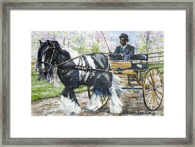 Pleasure Driving Framed Print by Denise Horne-Kaplan