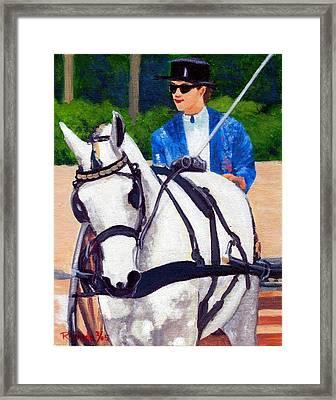 Pleasure Driving Quarter Horse Framed Print