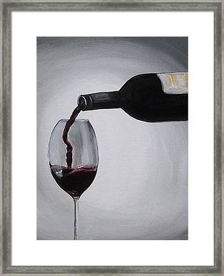 Pleasure In A Glass Framed Print by Melissa Torres