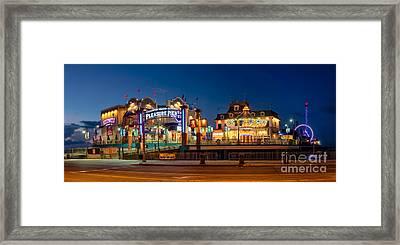 Pleasure Pier Framed Print