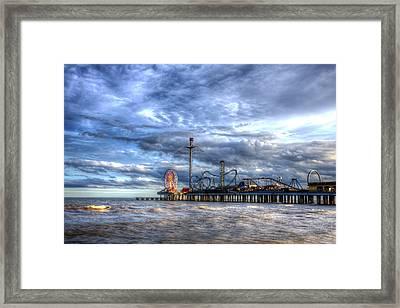 Pleasure Pier Galveston Framed Print