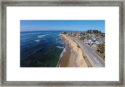 Pleasure Point Framed Print by David Levy