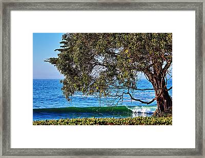 Pleasure Point Santa Cruz Framed Print by Richard Cheski