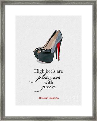 Pleasure With Pain Framed Print by Rebecca Jenkins