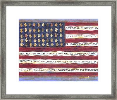 Pledge Flag Framed Print