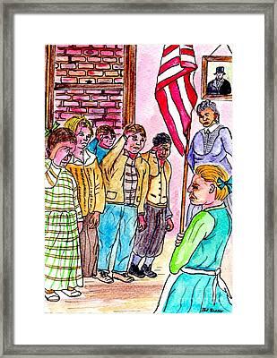 Pledge Of Allegiance Framed Print