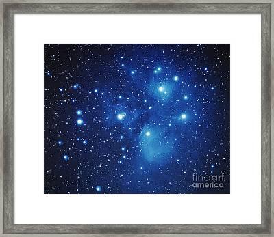Pleiades Star Cluster Framed Print