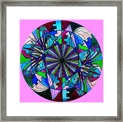 Pleiadian Integration Lightwork Model  Framed Print