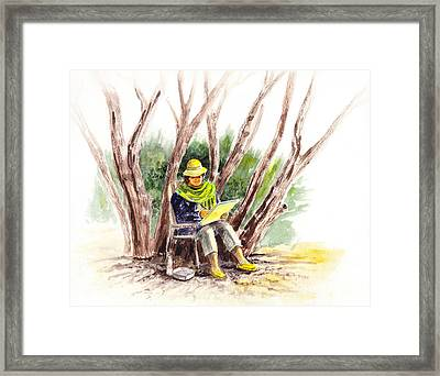 Plein Air Artist At Work Framed Print