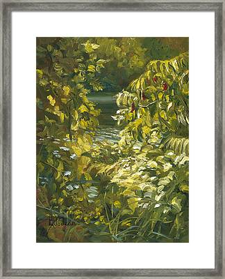 Plein Air - By The Chicopee River Framed Print