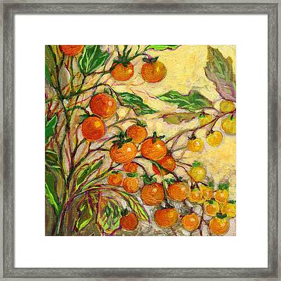 Plein Air Garden Series No 15 Framed Print by Jennifer Lommers