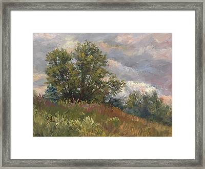 Plein Air - Near The Chicopee River Framed Print by Lucie Bilodeau