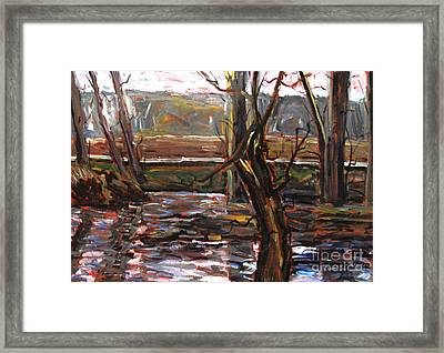 Plein Air Of The Eel After Alfred Sisley Framed Print by Charlie Spear