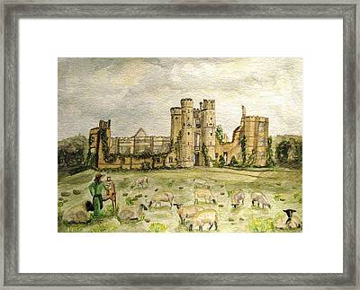 Plein Air Painting At Cowdray House Sussex Framed Print by Angela Davies