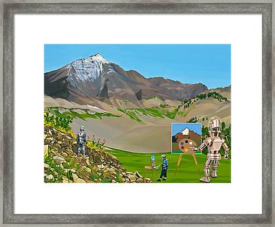 Plein Air Robot Framed Print