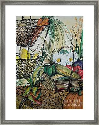 Plentiful Harvest Framed Print by Laneea Tolley