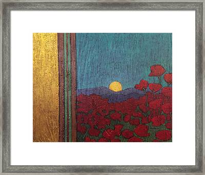 Plentiful Vista With Poppies Framed Print