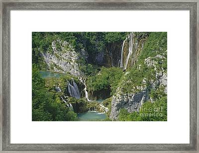Framed Print featuring the photograph Plitvice Lakes In Croatia by Rudi Prott