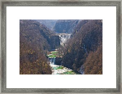 Plitvice Lakes National Park Canyon Framed Print