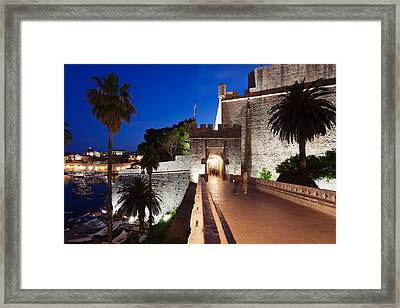 Ploce Gate And Fort Revelin, Dubrovnik Framed Print by Panoramic Images
