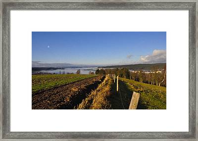 Plowed Field Framed Print by Aged Pixel