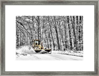 Plowin Snow Framed Print by Paul Freidlund