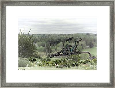 Plowing Through The Past Framed Print by Richard Bean