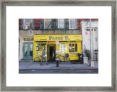 Pluck U Framed Print by Allen Beatty