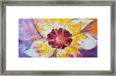 Plucking A Seven-petal Flower Framed Print