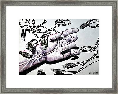 Plug And Play Pnp Framed Print by Paulo Zerbato