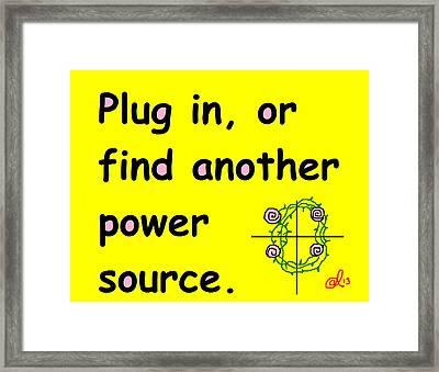 Plug In Framed Print by Anita Dale Livaditis