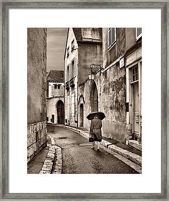 Pluie A Chartres #1 Sepia Framed Print