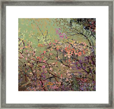 Plum Blossoms Framed Print