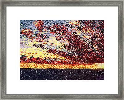 Plum Clouds Framed Print by Alan Hogan