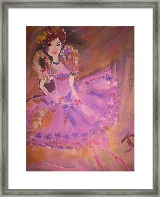 Plum Fairy Framed Print