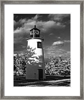 Plum Island Light 01 Framed Print