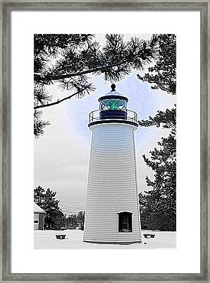 Plum Island Light Framed Print