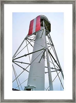 Plum Island Upper Range Light Framed Print by Carol Toepke