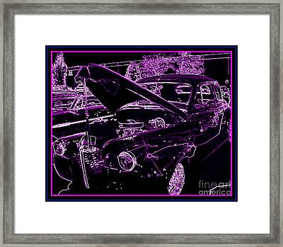 Framed Print featuring the digital art Plum Perfect by Bobbee Rickard