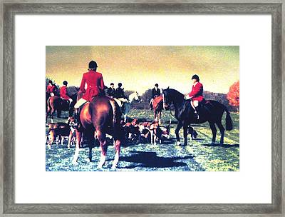 Plum Run Hunt Opening Day Framed Print