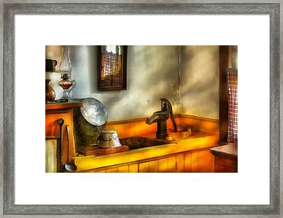 Plumber - The Wash Basin Framed Print by Mike Savad