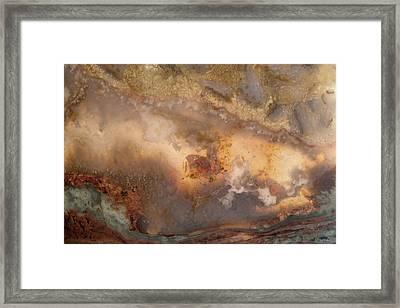 Plume Waves In Stone Framed Print by Leland D Howard