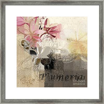 Plumeria - 064073079m3 Framed Print by Variance Collections