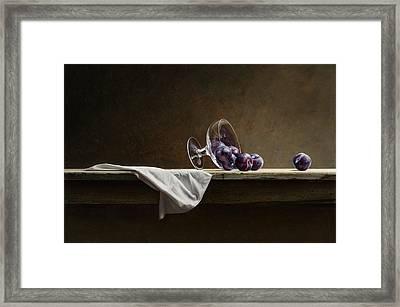 Plums Framed Print by Mark Van crombrugge
