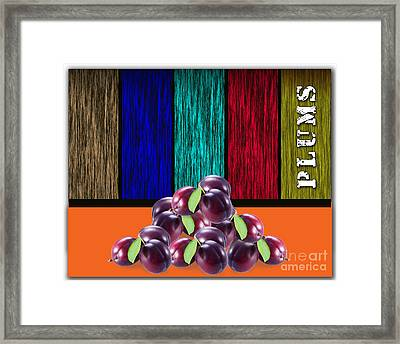 Plums Framed Print by Marvin Blaine