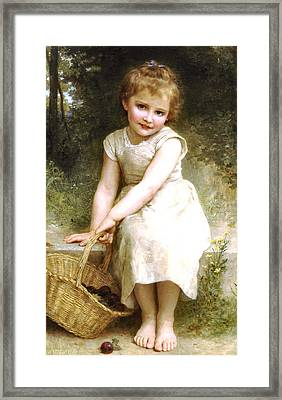 Plums Framed Print by William Bouguereau