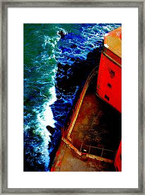 Plunging From Golden Gate Framed Print