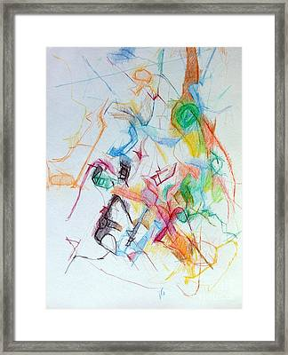Plunging The Depths Of Being 1 Framed Print by David Baruch Wolk